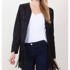 Jackets & Blazers - Sugar + Lips Fringe Faux Suede Jacket